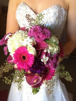 Bridal Bouquet With Hydrangea, Daisies, And Calla Lillies