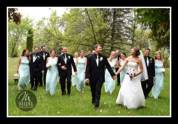 Wedding Party Park Photo